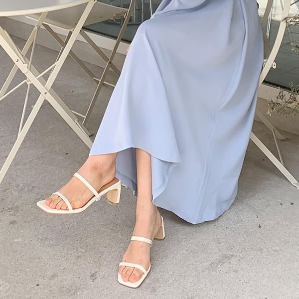 benito-로엔 스트랩 뮬 슈즈 7cm 신상/베이직/뮬/샌들/슬리퍼/쪼리/이중뮬/베스트/여성/데일리♡韓國女裝鞋