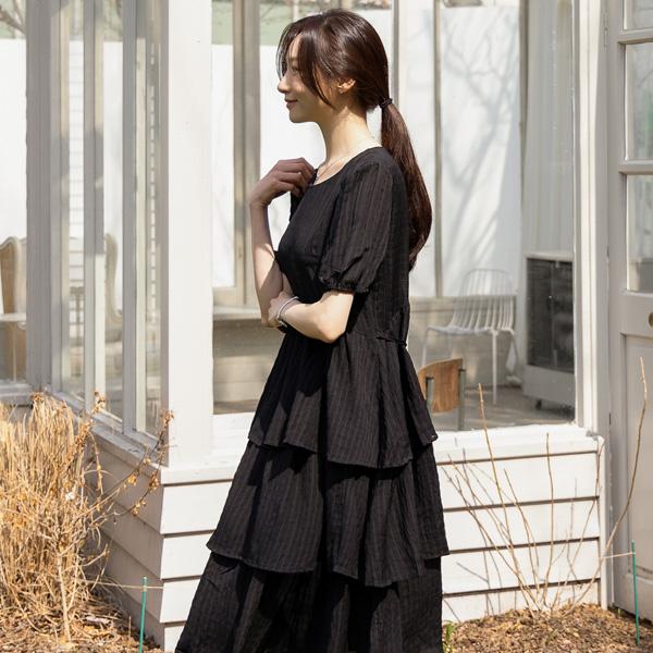 misscandy-[no.20298 퍼프소매 루즈핏 캉캉원피스]♡韓國女裝裙