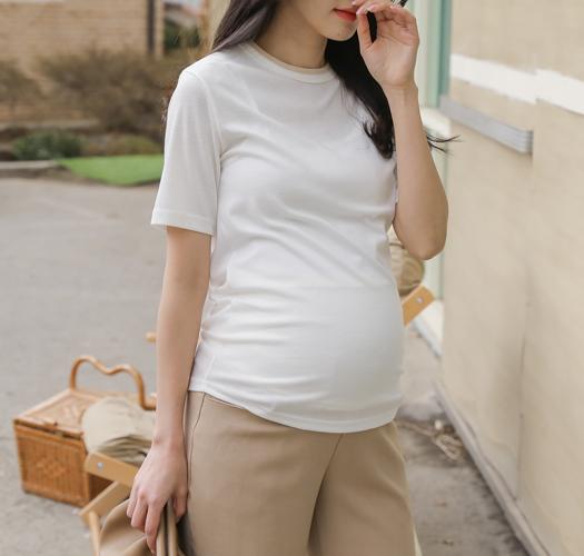 soim-[임부복*컬러링배색 티셔츠]♡韓國孕婦裝上衣