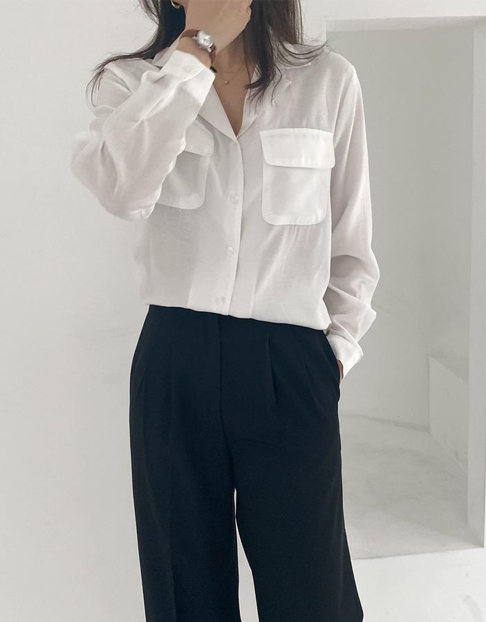 niponjjuya-렌느 포켓 셔츠♡韓國女裝上衣