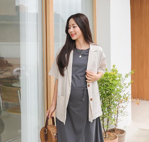 soim-[임부복*여름에걸치는 린넨자켓]♡韓國孕婦裝外套