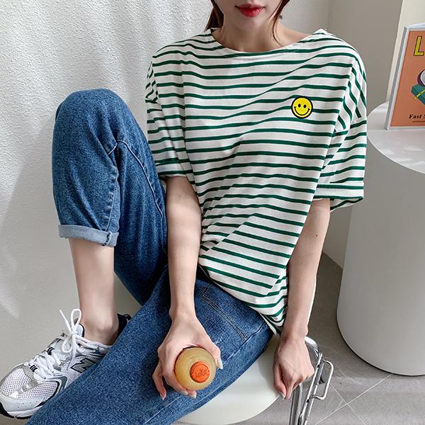 canmart-[스마일단가라반팔티 C032911]♡韓國女裝上衣