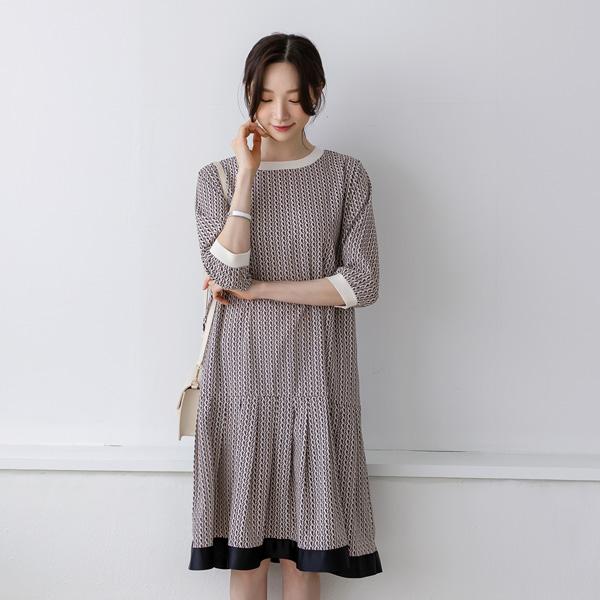 misscandy-[no.20294 히든포켓 빗살패턴 루즈핏원피스]♡韓國女裝連身裙