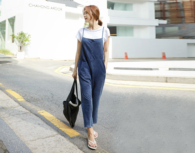 chichera-세련된 그녀들의 선택, 시크헤라[데님점프수트]♡韓國女裝褲
