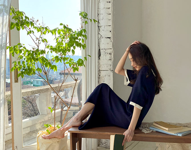 chichera-세련된 그녀들의 선택, 시크헤라[루밍카라니트원피스]♡韓國女裝連身裙