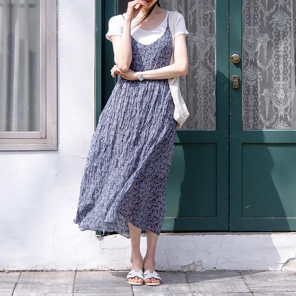 misscandy-[no.20299  잔꽃 레이어드 뷔스티에원피스]♡韓國女裝連身裙