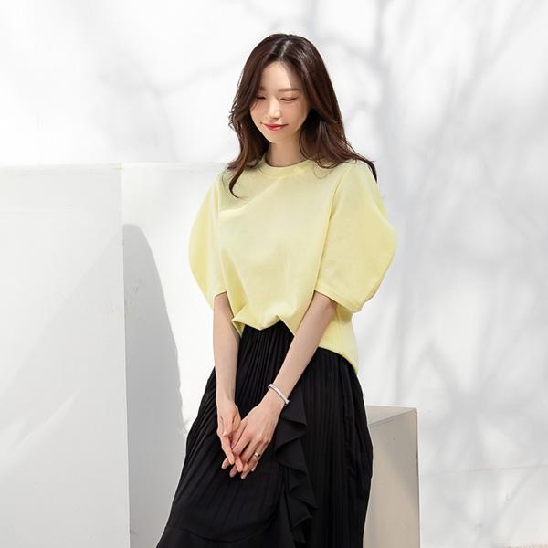 misscandy-[no.20297 봉긋소매 루즈핏 페미닌티셔츠]♡韓國女裝上衣