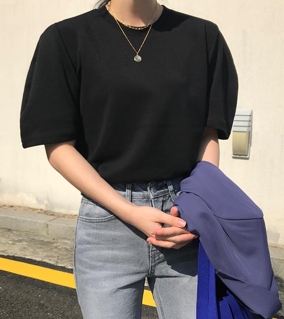 onlymoon-[블루밍, 코튼 퍼프티/4color]♡韓國女裝上衣
