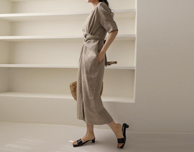 chichera-세련된 그녀들의 선택, 시크헤라[헤리리넨꼬임원피스]♡韓國女裝連身裙