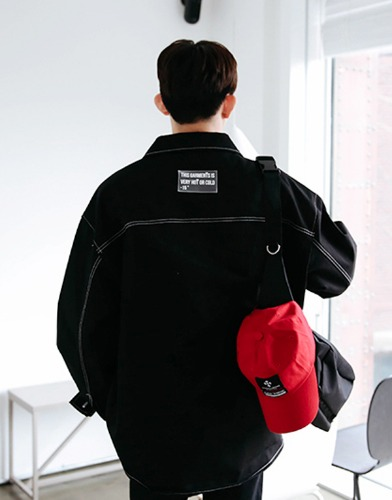 snipershop-모노 스티치 오버핏 자켓♡韓國男裝外套