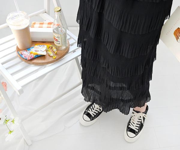 DailyN-(무배)메이든 러블리 H라인 캉캉 롱 스커트♡韓國女裝裙