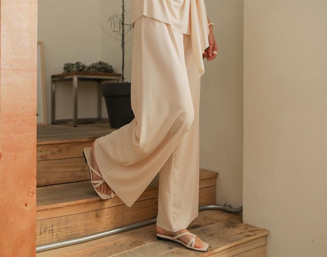 chichera-세련된 그녀들의 선택, 시크헤라[내추럴와이드밴딩팬츠]♡韓國女裝褲