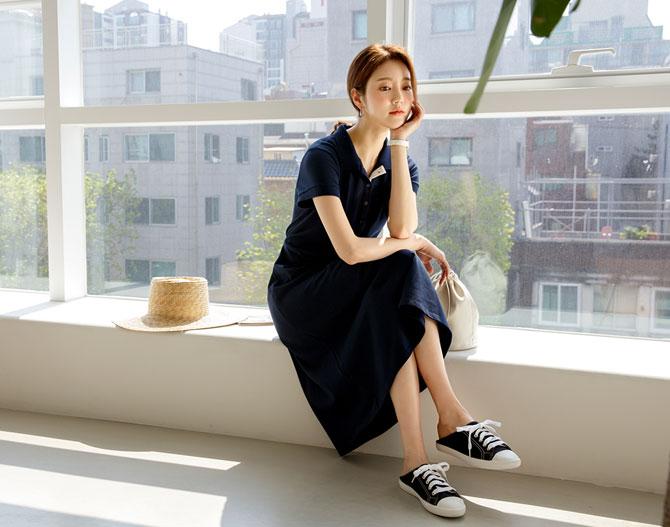 chichera-세련된 그녀들의 선택, 시크헤라[피케이카라원피스]♡韓國女裝連身裙