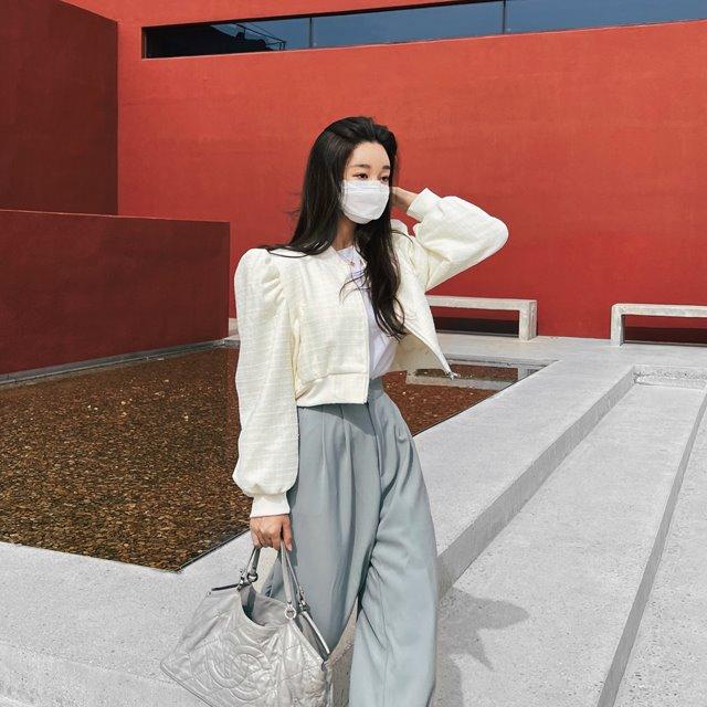 mybany-트위드블루종♡韓國女裝外套