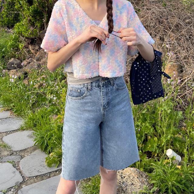 banharu-반하루[모리슨 하프 데님팬츠]♡韓國女裝褲