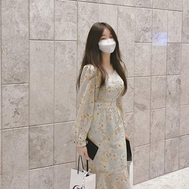 mybany-(프리오더)라튤립쉬폰OPS♡韓國女裝連身裙