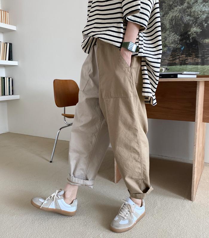 sibuya-[디아이 배색 팬츠]♡韓國女裝褲