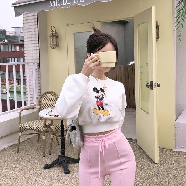 mybany-미키콕맨투맨♡韓國女裝上衣