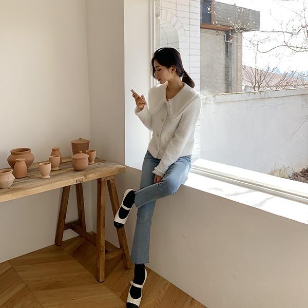 benito-[made] #베니토특가, Better Jeans(No.59) 슬림 부츠컷 (프레쉬블루)신상/데님/연청/컷팅/밴딩/청바지/베스트/여성/데일리♡韓國女裝褲