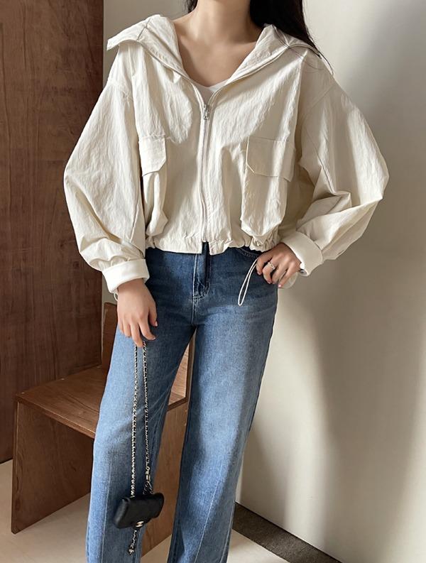 ssumj-디폴드 후드 점퍼(3col)♡韓國女裝外套