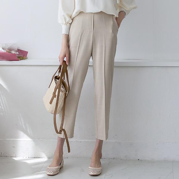 misscandy-[no.20305 린넨혼방 뒷밴딩 썸머슬랙스]♡韓國女裝褲