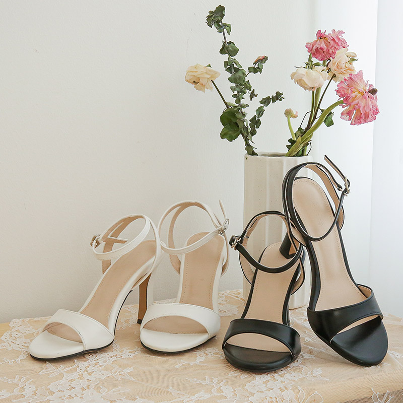 clicknfunny-큐토 스트랩힐♡韓國女裝鞋