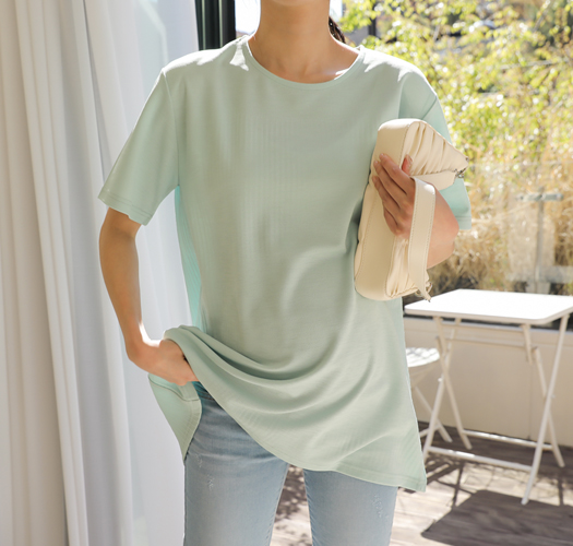 soim-[임부복*백플리츠반팔 임산부티셔츠]♡韓國孕婦裝上衣