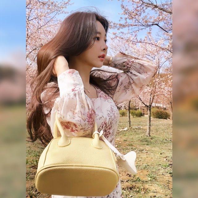 mybany-플로럴쉬폰OPS♡韓國女裝連身裙