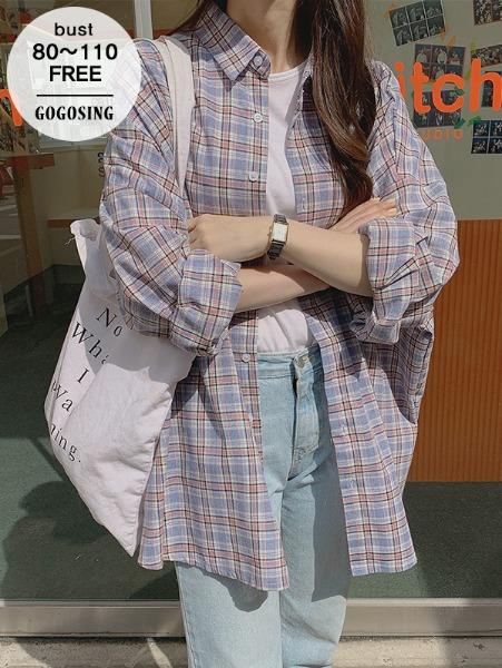 ggsing-[8일9시까지9%할인]파스텔 루즈NB (셔츠,오버핏,무료배송)♡韓國女裝上衣