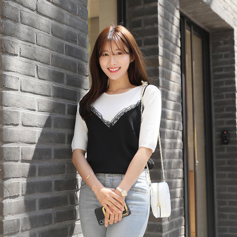 clicknfunny-버볼리 뷔스티에니트♡韓國女裝上衣