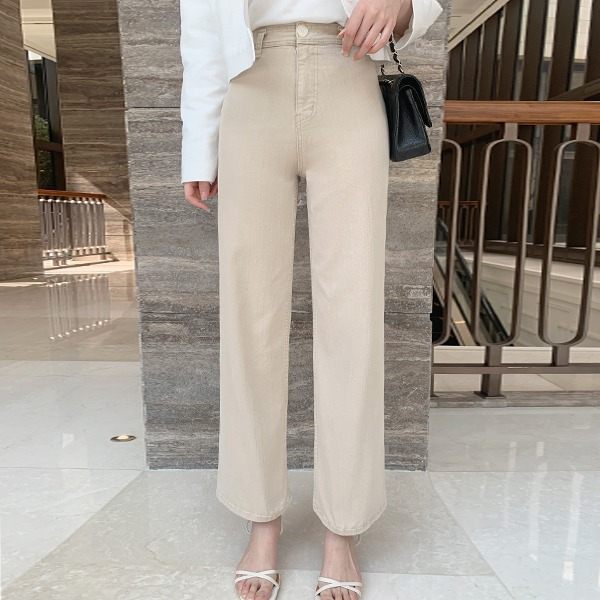 benito-[made] #베니토특가, Better Jeans (No.67) 슬림 와이드핏 (라이트베이지) 신상/베스트/여성/데일리♡韓國女裝褲