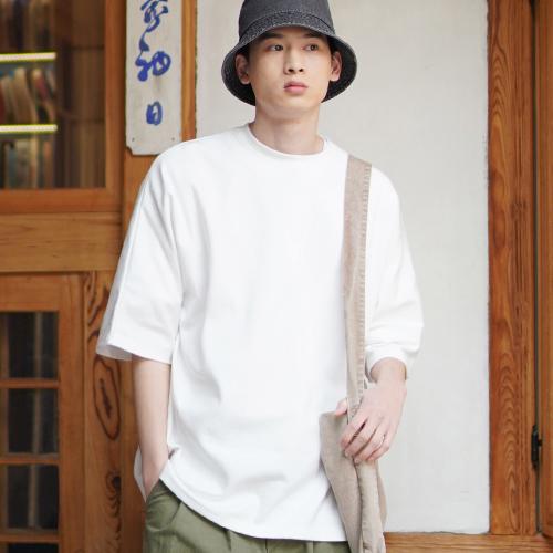 fairplay142-[[제멋] 스테이 오버핏 반팔티셔츠 아이보리 SOST2339]♡韓國男裝上衣