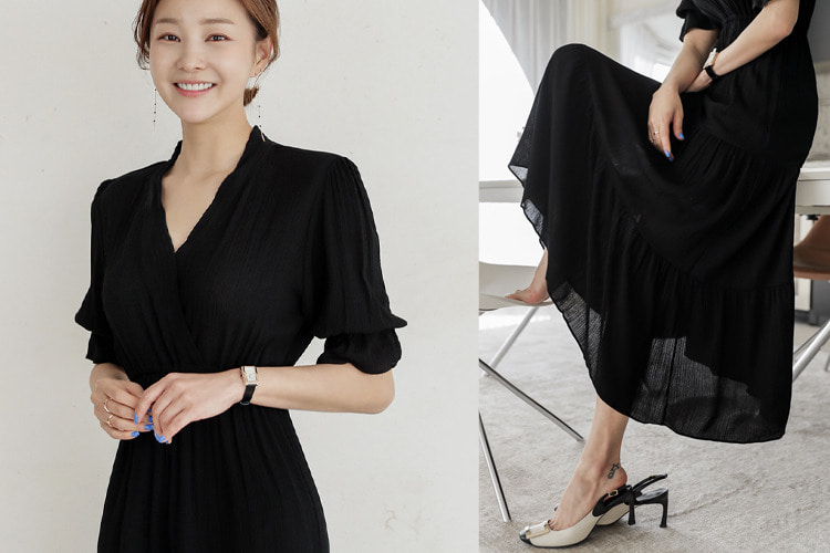 loveparis-[러패찬스 5%][후기1260개]벨리 랩셔링 롱원피스♡韓國女裝連身裙