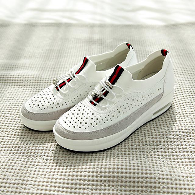 tiramisu-TR/펀칭키높이스니커즈♡韓國女裝鞋