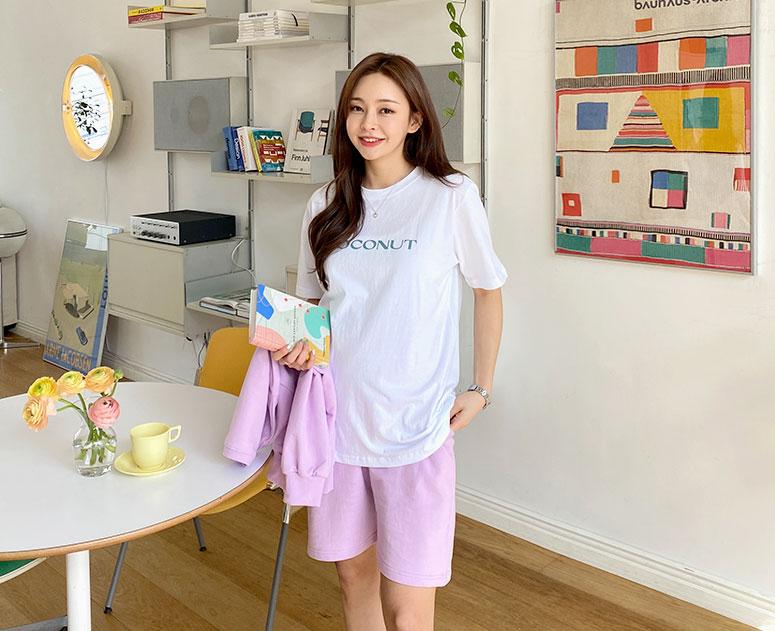 happy10-[*신상5% 기간한정할인*임부복*코코넛배색 티]♡韓國孕婦裝上衣