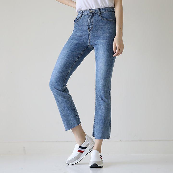 lemite-멋진부츠컷 데님팬츠(히든밴딩)♡韓國女裝褲