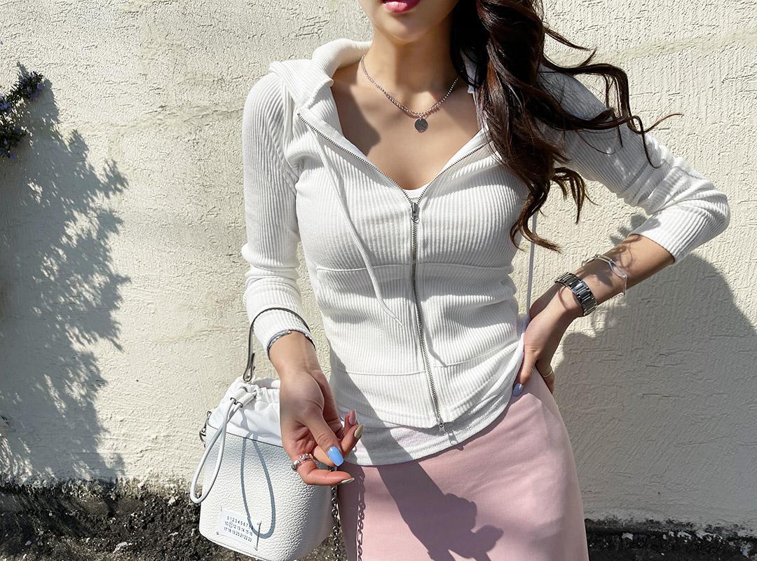 naning9-사그엘 골지후드집업(C04)♡韓國女裝外套
