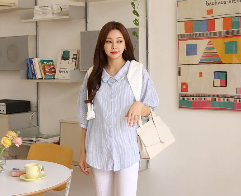 happy10-[*신상5% 기간한정할인*임부복*탐탐단가라 블라우스]♡韓國孕婦裝上衣