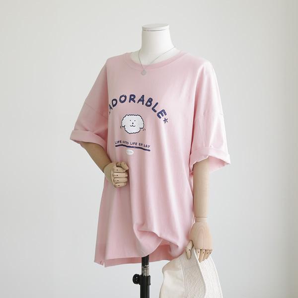 mariangplus-[P] 아리소 반팔 티셔츠 P_T9825♡韓國女裝上衣