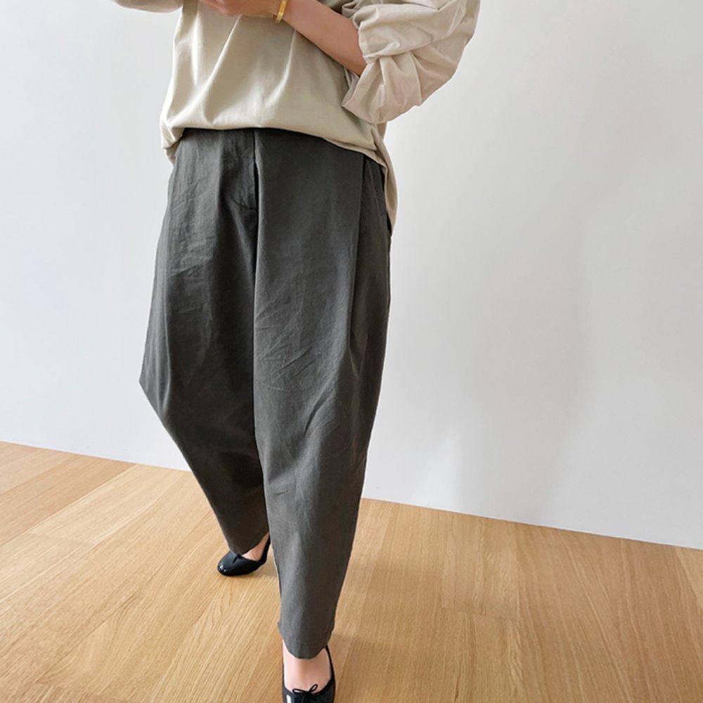 littleblack-내추럴 코튼 비죠 팬츠♡韓國女裝褲