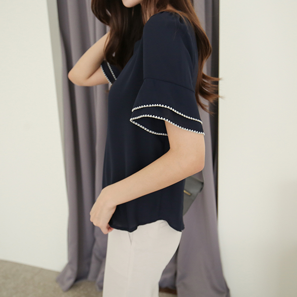 canmart-[멜로소매프릴블라우스 C050215]♡韓國女裝上衣