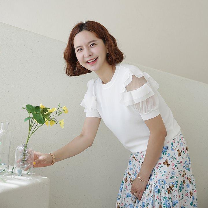lemite-프릴벌룬 니트♡韓國女裝上衣