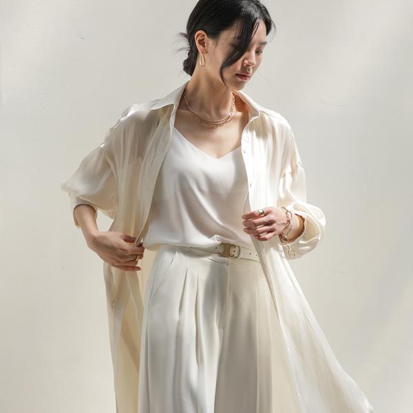 mariangplus-글로시 롱 슬릿 블라우스 S_51♡韓國女裝上衣