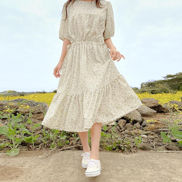 09women-[뉴헨 플라워 스트링 롱 원피스 58884]♡韓國女裝連身裙