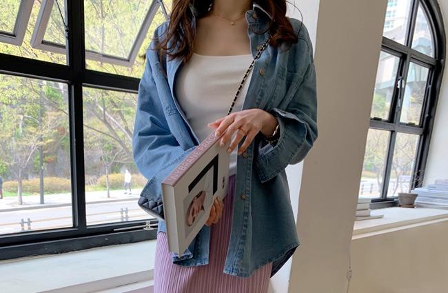 minsshop-(면100%)토이 데님 셔츠♡韓國女裝上衣
