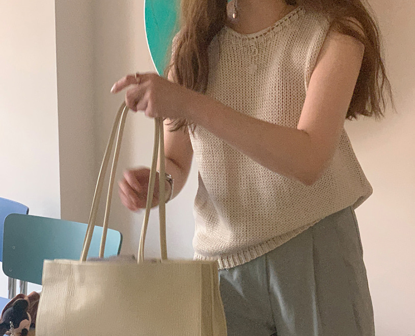 maybe-baby-gather (cami) -3colors♡韓國女裝上衣