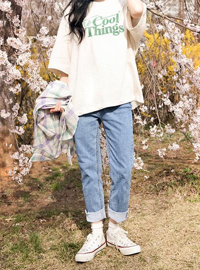 kikiko-쿨띵그린반팔티♡韓國女裝上衣