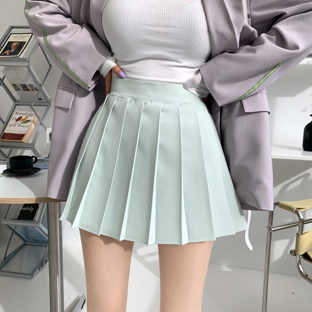 uinme-도나 플리츠 스커트 팬츠 - [ 3color ] - 유인미도나 플리츠 스커트 팬츠 - [ 3color ] - 유인미♡韓國女裝褲