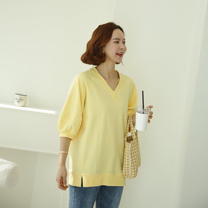 lemite-쏘스윗 벌룬맨투맨(44~77사이즈)♡韓國女裝上衣