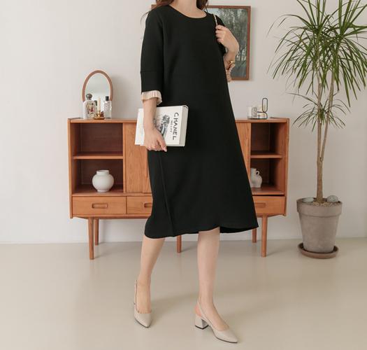soim-[임부복*안나플리츠 임산부원피스]♡韓國孕婦裝連身裙